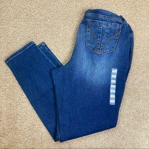 Indigo Blue Full Panel Plus Skinny Maternity Jeans